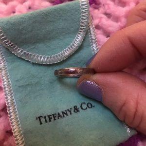 Tiffany & Co.. Love ring..Red enamel love sterling